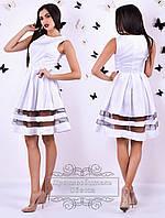 Белое платье Адель без рукавов