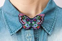 Набор для вышивки бисером украшения на натуральном художественном холсте Бабочка AD-001