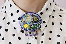 Набор для вышивки бисером украшения на натуральном художественном холсте Птица AD-002
