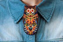 Набор для вышивки бисером украшения на натуральном художественном холсте Сова AD-003