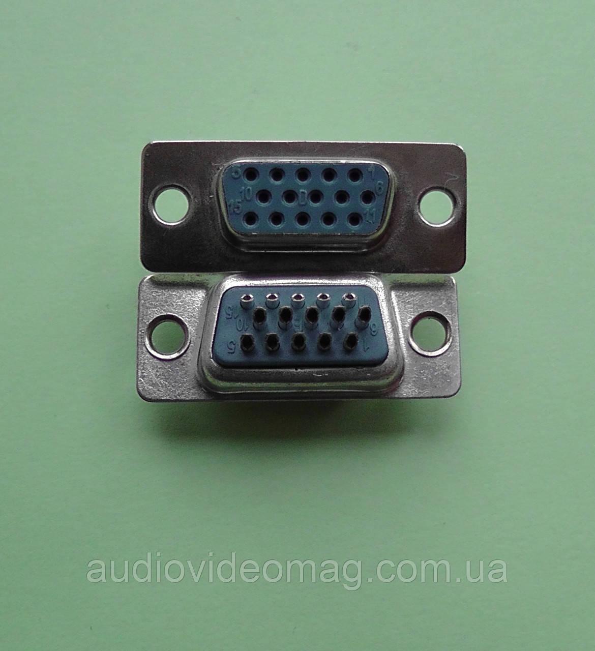 Розетка DHD-15F на кабель (VGA), разъём мама