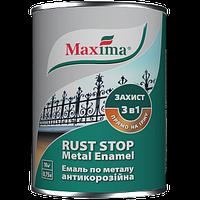 Краска по металлу молотковая Maxima темно-коричневая 0,75 L