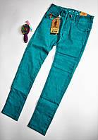 Бирюзовые джинсы для девочек