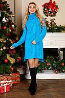 Вязаное платье Кокетка, теплые зимние платья