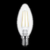 LED лампа MAXUS Filament C37 FM-C 4W 3000K 220V E14 (1-LED-537-01)
