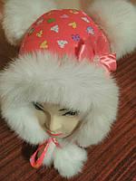 Детская зимняя шапка из плащёвки