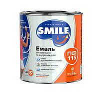 Эмаль Smile ПФ-115 темно-вишневая 0,9 кг