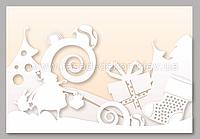 Декорация для витрин Дед Мороз и заяц