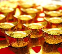 Чаша изобилия металл под золото (3х2х1,3 см)