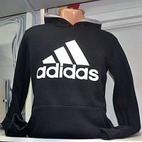 Чоловіча тепла  спортивна кофта  в стилі  Adidas (чорна )