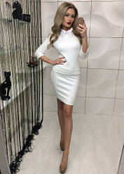 Деловой костюм белый