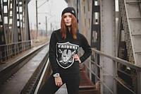 "Свитшот женский с принтом ""Raiders"" Окленд Рэйдерс  | Кофта"