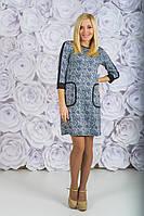 Трикотажное платье с принтом , фото 1