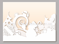 Снеговик и игрушки - декорация