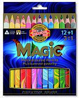 Карандаши KOH-I-NOOR цветные Magic, 12 шт. + Блендер 340801