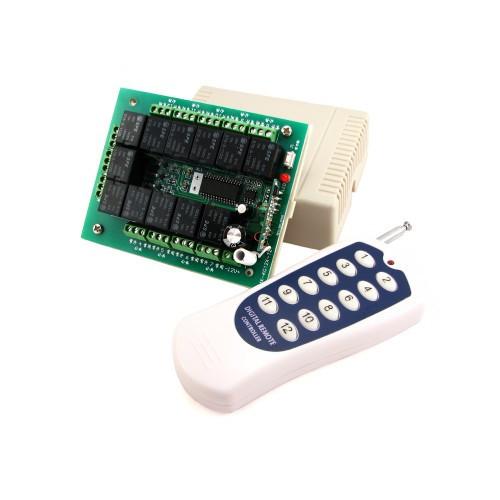 12-канальное беспроводное реле 12В + пульт для автоматизации
