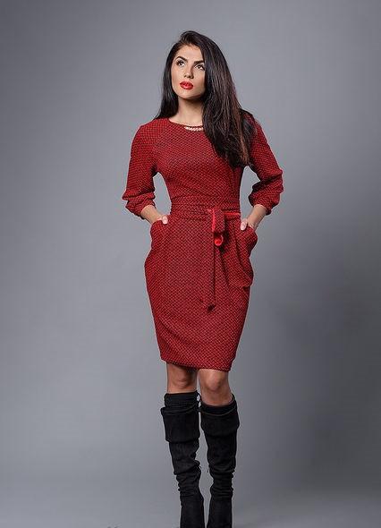 Платье с пояском от 48р.