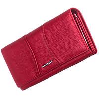 Женский кожаный кошелек Bodenfendy красного цвета, фото 1