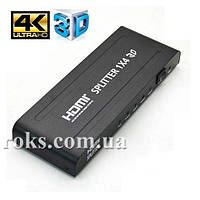 Сплитер HDMI Spliter 1 вход - 4 выхода ST-0104B