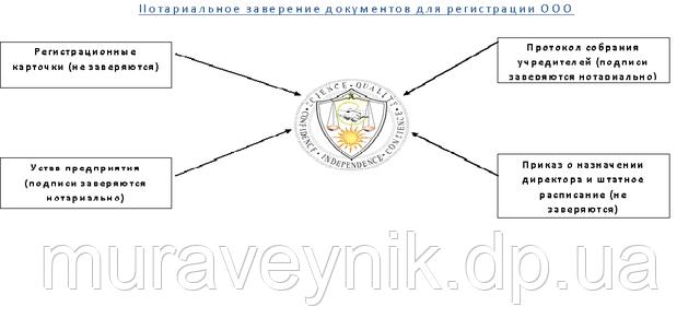 Регистрация ООО - нотариус