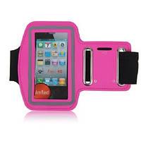 Армбенд, спортивный чехол Iphone 4 4G 4S, розовый