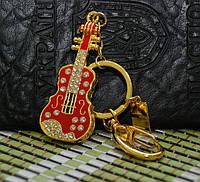 Гламурная мега женская изящная скрипка со стразами - флешка, флешка в виде красной скрипки