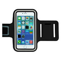 Армбенд, спортивный чехол Iphone 6 plus, черный