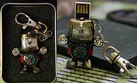 Флешка 4 в 1, флешка + компас + часы+ брелок, уникальная оригинальная флешка брелок робот
