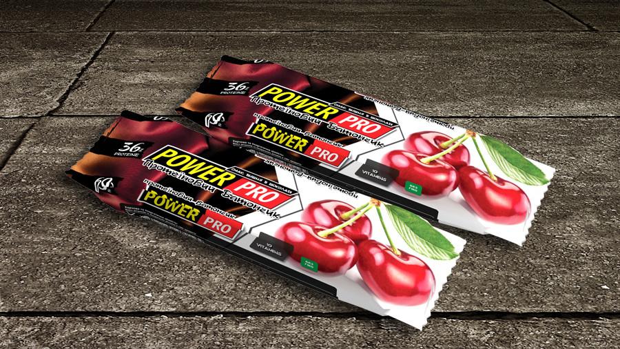 Протеиновый батончик Power Pro Вишня в шоколаді 36%, (60г.)