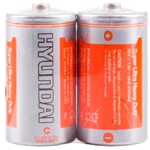 Батарейка R14 C С 1.5В HYUNDAI солевая, 2шт.