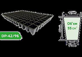 Кассета для рассады 96 ячеек (размер кассеты: 400х600 мм, компоновка ячеек: 12х8)