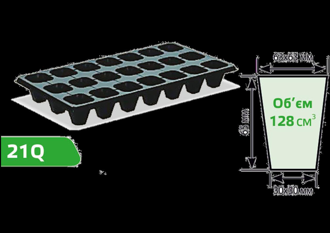 Касета для розсади 21Q (розмір касети: 540х280 мм, компонування осередків: 3х7)