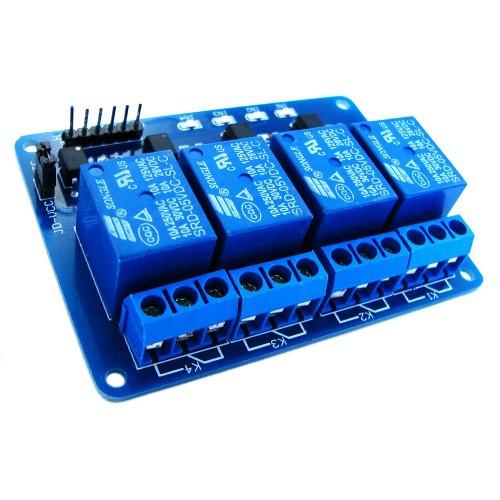 4-канальный модуль реле 5V для микроконтроллера