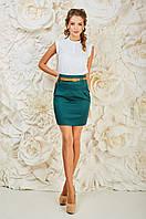 Молодежная женская юбка зеленого цвета