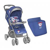 Прогулочная коляска Bertoni SMARTY, ЧЕХОЛ, blue soccer, легкая система складывания