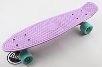 Скейт,пенни борд Лиловая доска и мятные колеса