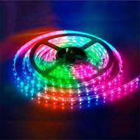 Светодиодная лента IP20 5m 60 SMD 5050 12V RGB (мультиколор) 14,4W/м/ LM577