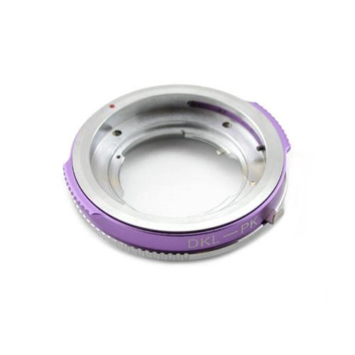 Адаптер переходник Deckel DKL - Pentax PK K фиолетовый