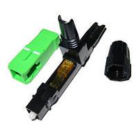 Фаст коннектор SC APC оптического кабеля вилка оконцовки