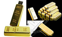 Флешка сувенирная 2 в 1, Сувенирная флешка в виде золотого слитка