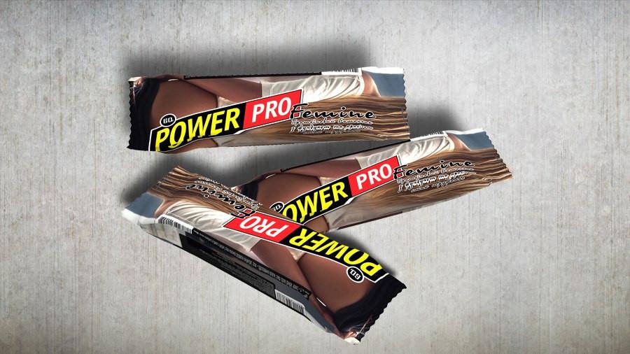 Протеиновый батончик Power Pro ореховий Femine, труфальє 36%, (60г)