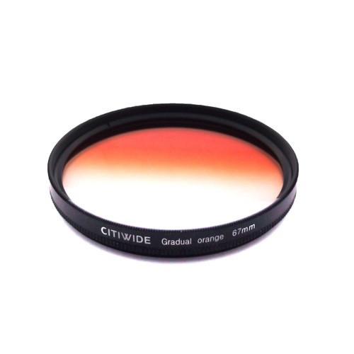 Цветной фильтр 67мм оранжевый градиент
