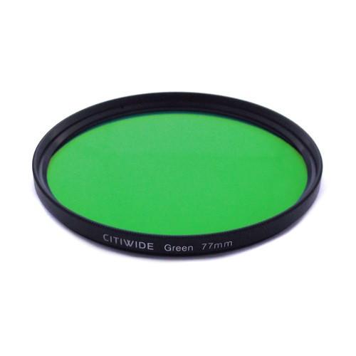 Цветной фильтр 77мм зеленый для черно-белой фотографии