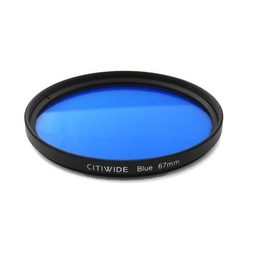Цветной фильтр 67мм синий для черно-белой фотографии