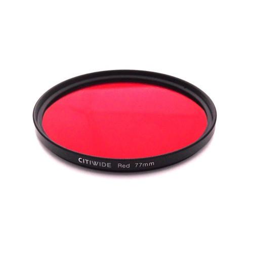 Цветной фильтр 77мм красный для черно-белой фотографии