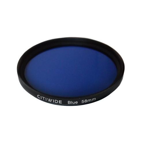 Цветной фильтр 58мм синий для черно-белой фотографии