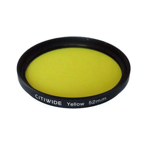 Цветной фильтр 52мм желтый для черно-белой фотографии