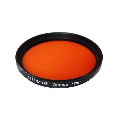 Цветной фильтр 52мм оранжевый для черно-белой фотографии