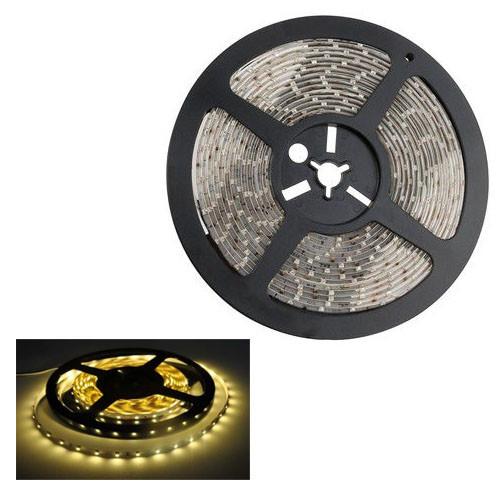 LED светодиодная лента 3528 теплая белая 300 светодиодов SMD 5 метров
