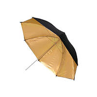 """Золотистый фото зонт диаметр 84см 33"""" студийный"""